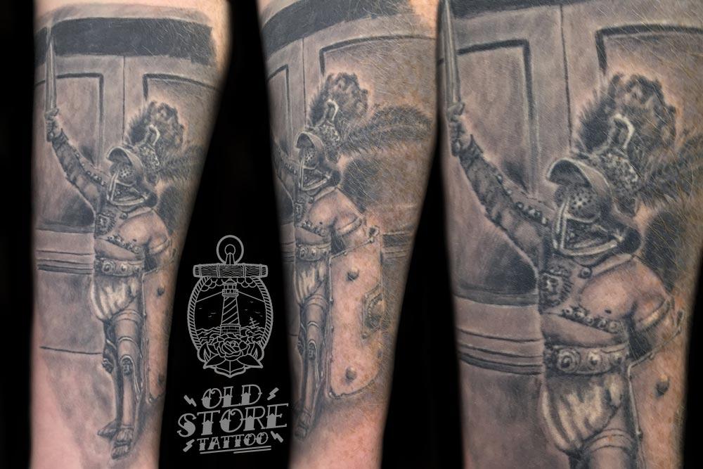tattoo Gladiatore Realistico